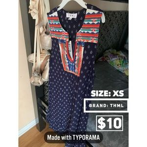 NEW THML BOHO DRESS XS